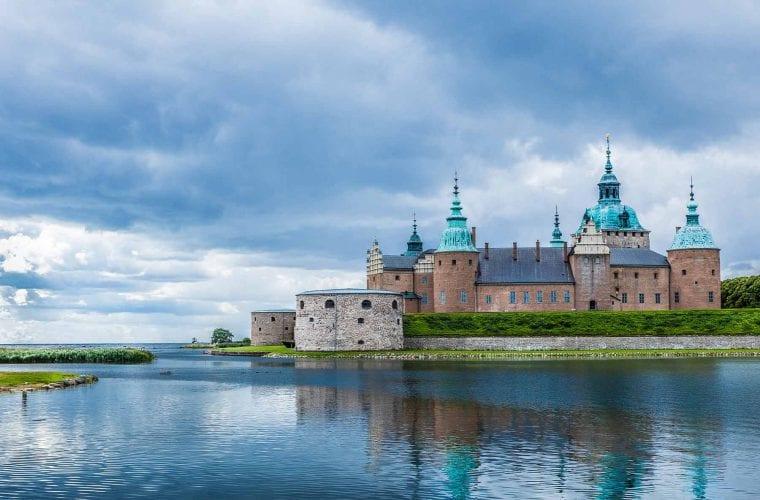 Bild på slottet i Kalmar