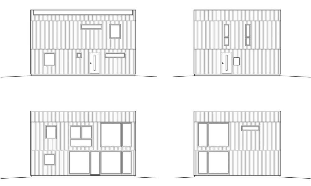 Nova 3 fasadritning