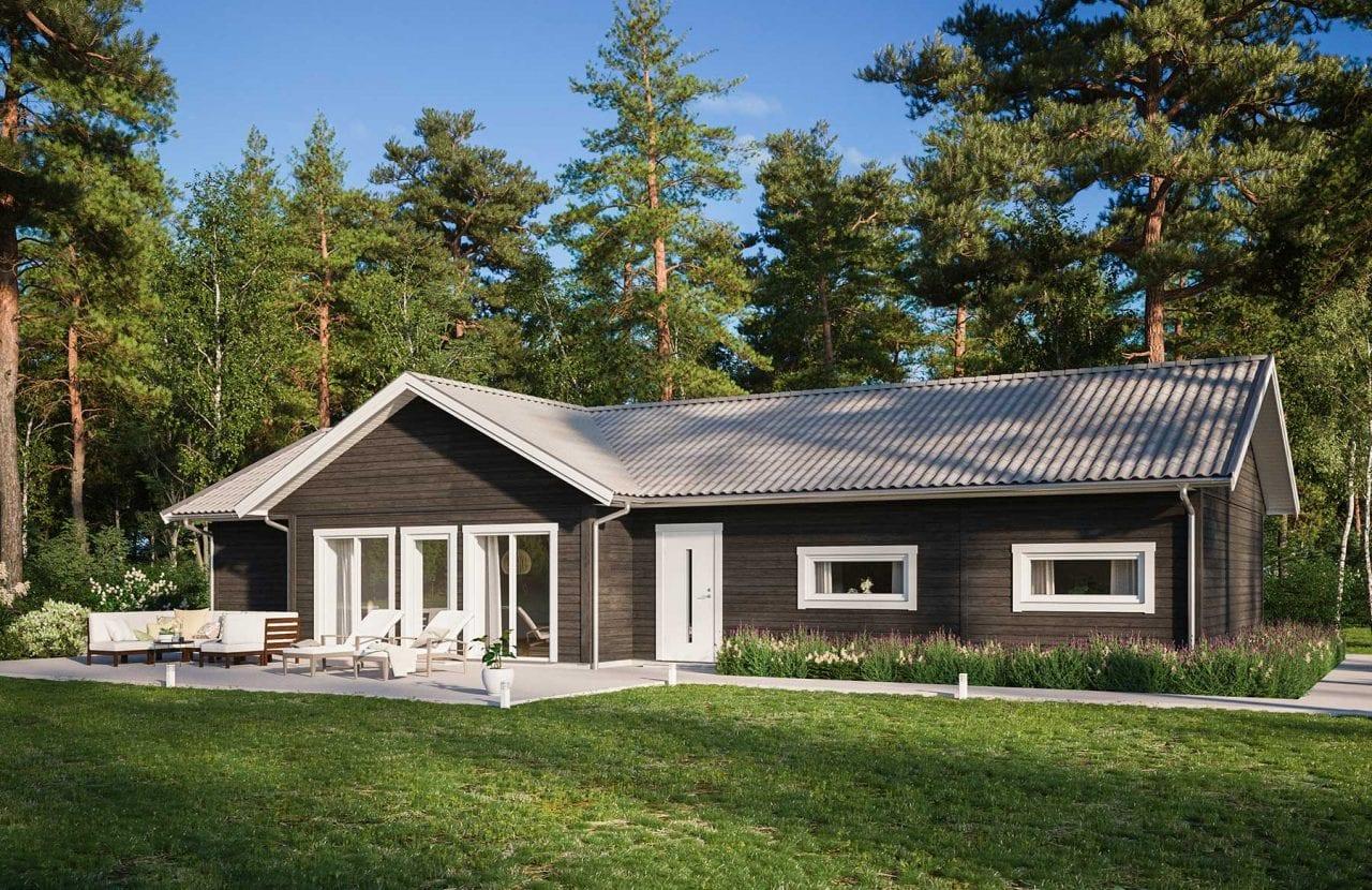 Bild på Borohus Villa Karisma 11 med svart träpanel
