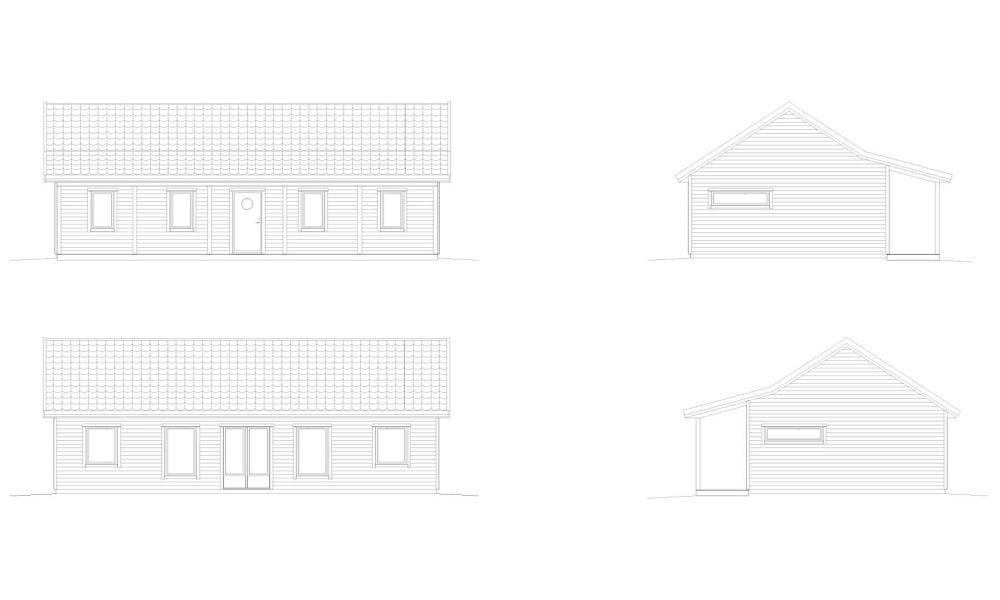 Femte Näset fasadritning