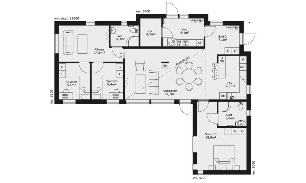 Villa Karisma 14 planlösning