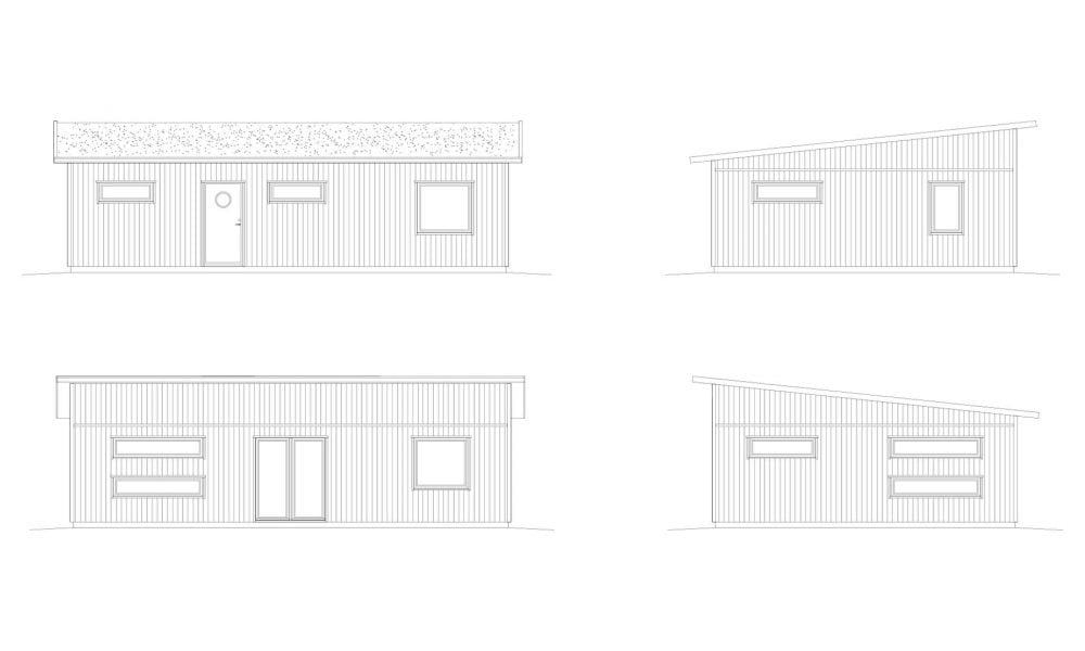 Tredje Näset fasadritning