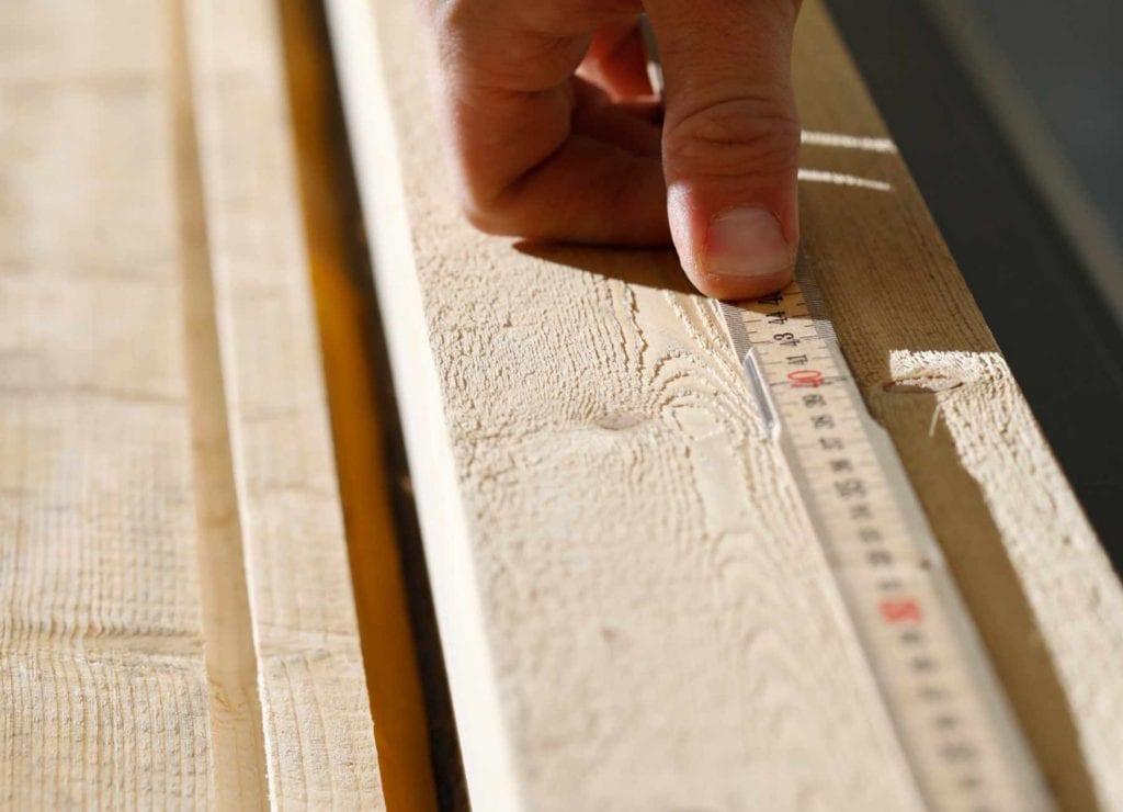 Bygga Borohus, mätning pågår