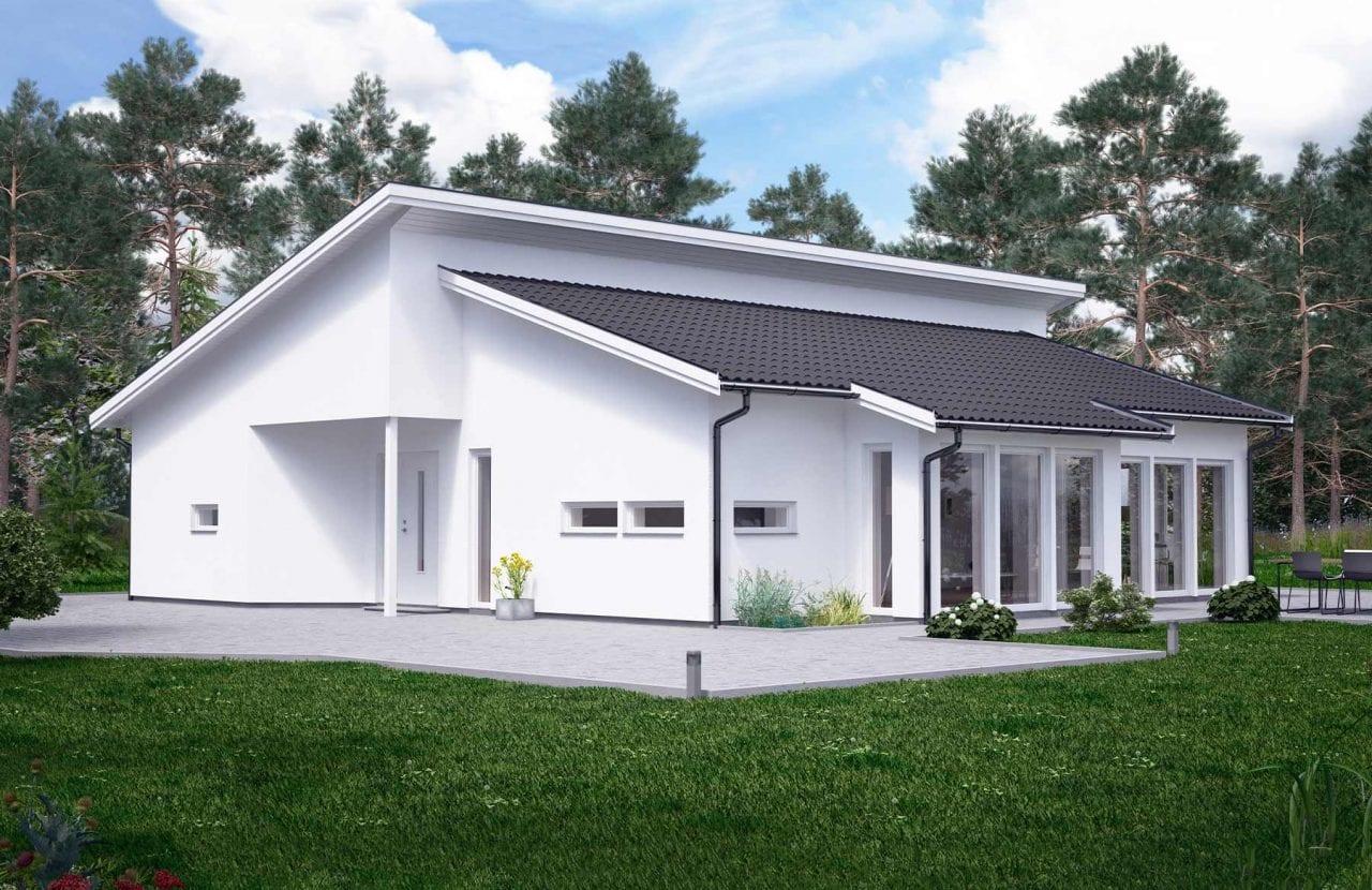 Bild på Borohus Villa Karisma 22 med putsfasad.