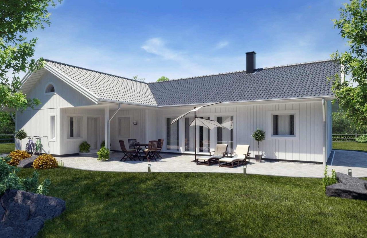 Bild på Borohus Villa Karisma 23 ljustgrått tak.