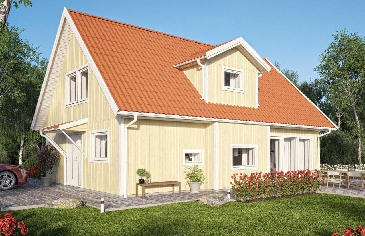 Bild på Borohus Villa Scandinavia 1 med träpanel