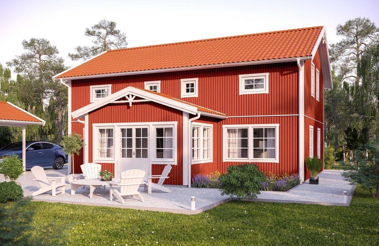 Bild på Borohus Villa Nova 2 i rött utförande