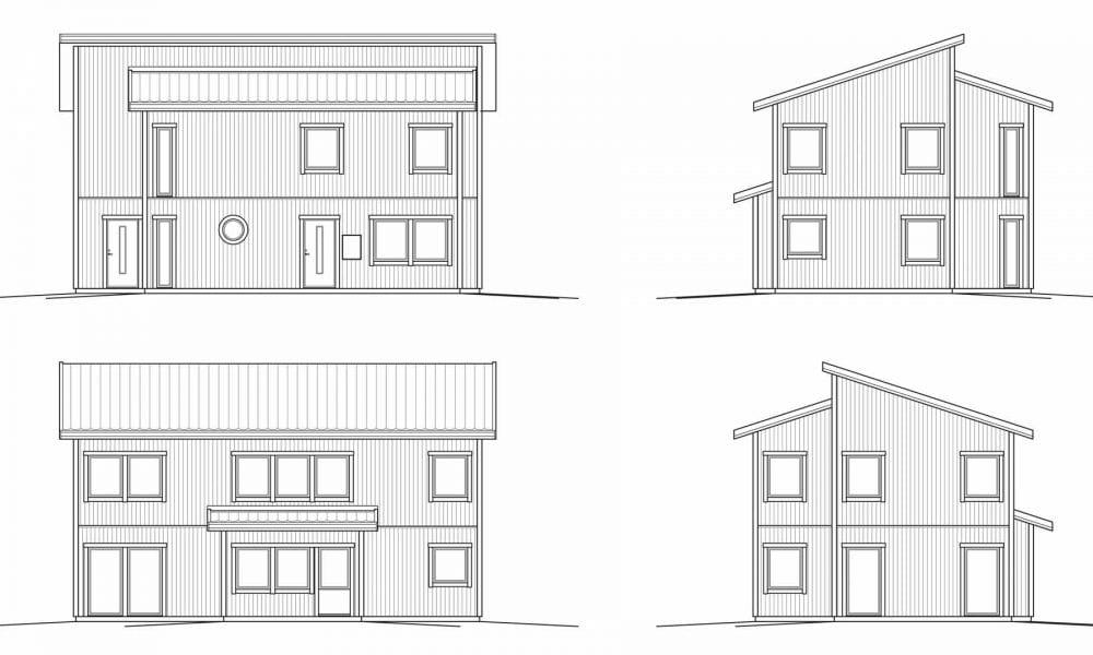 Nova 5 fasadritning