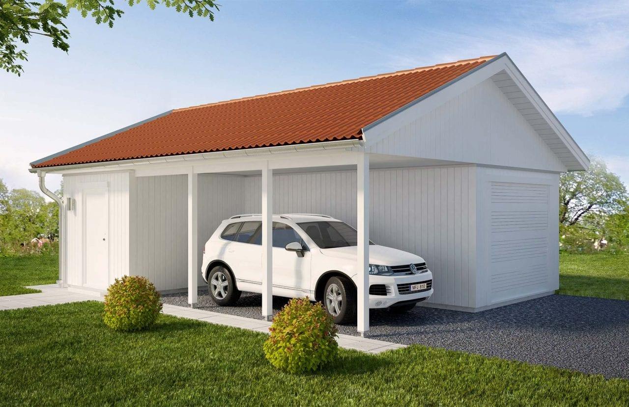 Bild på Borohus Garage/Carport GC54