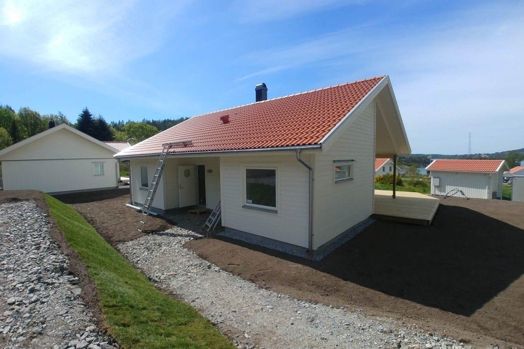 Bild på visningshuset i Grötån