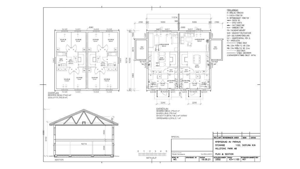 Planlösning Hillstone Park